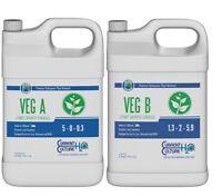 Cultured Solutions Veg A & B Base Nutrients Hydroponics Current Culture Quart