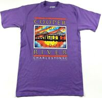 Vintage 1989 Mens Cooper River Bridge Charleston SC Size Medium 38-40 Purple USA