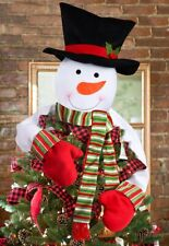 Christmas Tree Topper Snowman Hugger Holiday Winter Party Festive Decoration