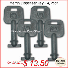 Merfin Dispenser Key for Paper Towel & Toilet Tissue Dispensers - (4/pk.)