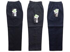 Boys Full Elastic Pull Up Trousers School Wear Fully Elasticated Waist Pant 2-13