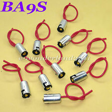 10 x BA9S / T11 LED Light Bulb Socket Holder with wire connector for Car Truck