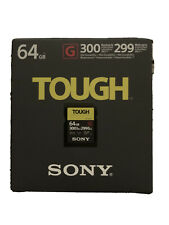 Sony 64GB SF-G Tough Series UHS-II SDXC Memory Card  Brand New Authorized Dealer