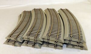 (11) Pieces Lionel Fast Track S-40 Curved Track Sections 1/64 S Scale
