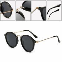 Retro Round Metal Frame Sunglasses Men Women Polarized Unisex Sunglasses