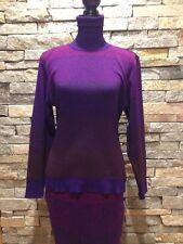Vintage Andrea Jovine Sweater Dress - Wool - 2 Piece - Purple Ombre P/M