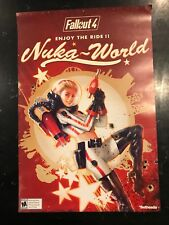 Fallout 4 Nuka World Space Girl Promo EB Games 2-Sided Poster FREE SHIPPING