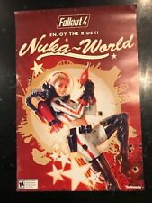 """Fallout 4 Nuka World Space Girl Promo EB Games 2-Sided Poster 20"""" x 13.5"""""""