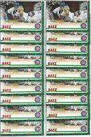 2019 Topps Holiday Walmart Javier Baez (18) Card Bulk Lot #HW109 Cubs