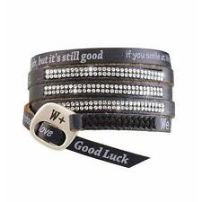 Bracciale We Positive Luxury Swarovski pelle Nero SW005