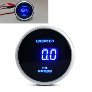 "12v / 24v Universal 2"" 52mm Digital LED Oil Pressure Gauge with Sensor Meter Kit"