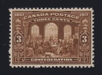 Canada Sc #135 (1917) 3c Confederation Mint VF NH