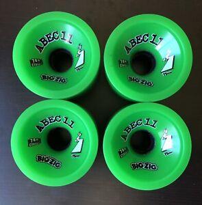Abec 11 Classic BigZig 75mm 78A Longboard Skateboard Wheels - Rare NEW