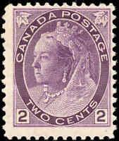 1898 Mint H Canada F Scott #76 2c Queen Victoria Numeral Issue Stamp