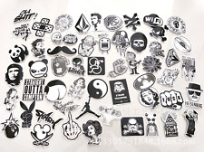 60x/Set Sticker Car Decor Accessory Black White Sticker bomb Case Decals Decor