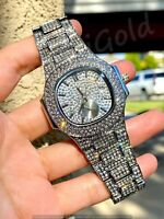 Mens Custom Fully Ice out Oval Watch Baguette Cz vvs Quality Stainless Steel icy