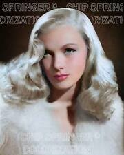 VERONICA LAKE PORTRAIT WITH FUR BEAUTIFUL COLOR PHOTO BY CHIP SPRINGER