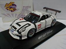 """Spark Werbemodell # Porsche 911 GT3 Cup Intelligent performance in """" weiß """" 1:43"""