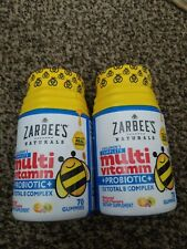 2 pk Zarbee's Children's Complete Multi-Vitamin + Probiotic 70 Gummies Exp 07/20