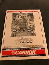 1986 MOVIE Trade PRINT Ad 9X12 FOR ALLAN QUATERMAIN AND THE LOST CITY OF GOLD