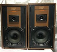 KEF Coda III Speakers Vintage 2 Way Bookshelf/Floor Speakers Read Description