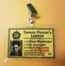 Supernatural ID Badge-Demon Hunter's License Dean Winchester costume cosplay