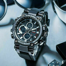 SMAEL Mens Tactical Wristwatch Sports Military Digital Quartz Watch Rubber Strap