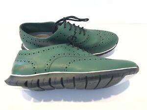 Cole Haan Men's Zerogrand Wingtip Oxford Shoes Green Size 8B
