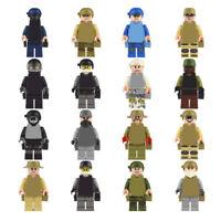 16pcs/set Military Navy Attack Army Building Blocks Bricks Models Figures Toys
