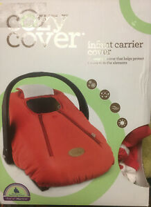 NEW - Cozy Cover Infant Carrier Cover Red - Cayenne Shell/White Lining