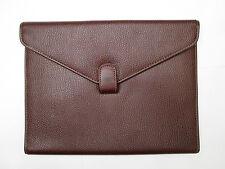 -AUTHENTIQUE pochette correspondance CERRUTI  cuir   TBEG   bag vintage