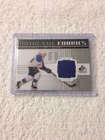 2011-12 SP Game Used Authentic Fabrics David Backes Jersey Card #AF-BK 26/100