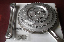 Bike Triple Chainset 28/38/48 Silver 170mm Alloy Crank Arms & Steel Chain Rings
