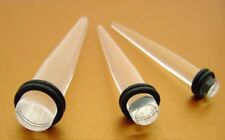 LOT OF 3 CLEAR EXPANDER 2G 0G 00G TAPER STRETCHING KIT