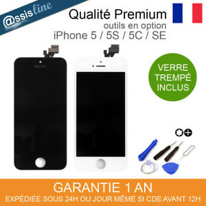 VITRE TACTILE + ECRAN LCD SUR CHASSIS POUR IPHONE 5 5S 5C SE NOIR BLANC + OUTILS