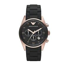 Emporio Armani Men's Rose Gold Black Chronograph Watch AR5905
