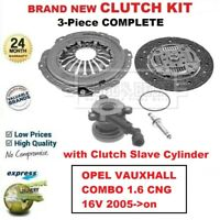 FOR OPEL VAUXHALL COMBO 1.6 CNG 16V 2005->on BRAND NEW 3-PC CLUTCH KIT with CSC