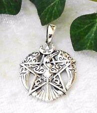Phoenix Pentagramm Silber 925 Magie Gothic Kelten Rabe pentacle pendant Magie