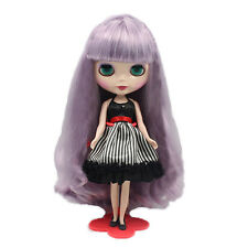 """For 12"""" Neo Blythe doll Takara doll Purple Double Braid Long Wig~wig with scalp"""