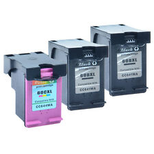 3PK 60XL Black Color Ink For HP Deskjet F4275 F4280 F4283 F4288 F4292 F4293