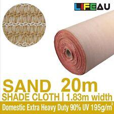 90% UV SAND Shadecloth 1.83 x 20m Domestic Extra Heavy Duty Shade Cloth 1.83