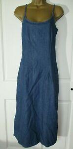 Joie De Vivre Blue Soft Denim Cotton Maxi Dress Size 18 UK