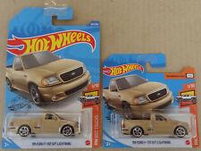 Hot Wheels - NEW 2020 - '99 Ford F-150 SVT Lightning pickup truck - gold  2x MOC