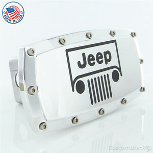 Jeep Chrome Billet W/ Allen Bolts Tow Hitch Cover