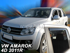 D002 VW Amarok V6 2017 D-CAB deflettori del vento 4-PC Set in Nero-esterno Fit