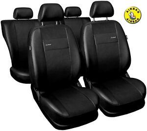 Car seat covers fit Mitsubishi L200 black  leatherette full set