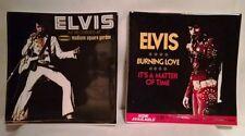 2 Elvis Album Cover Plate Plates Dish NIB