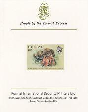 Belize 5108 - 1984 MARINE LIFE 6c  imperf on Format International PROOF  CARD