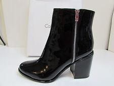 Calvin Klein Size 6.5 M Black Patent Boots New Womens Shoes