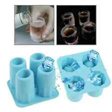 Ice Shot Gläser 4er Set Eiswürfel Form Eis Schnapsgläser Shooter Schnapsglas